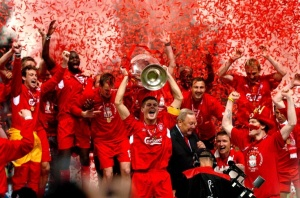 Liverpool winning Champions League 2005